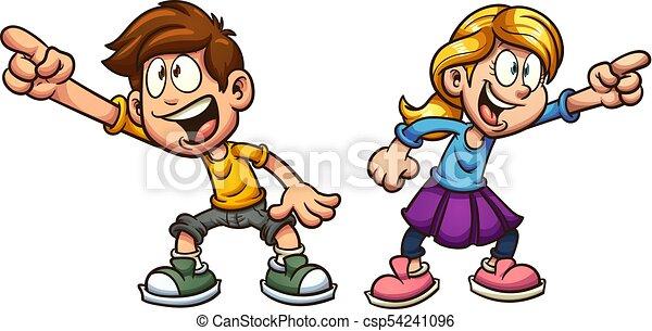 Cartoon kids - csp54241096
