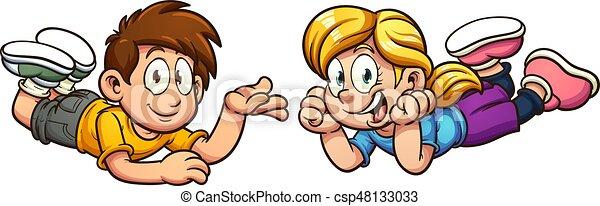 Cartoon kids - csp48133033