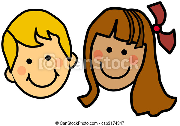 cartoon kids csp3174347 - Kids Cartoon Drawings