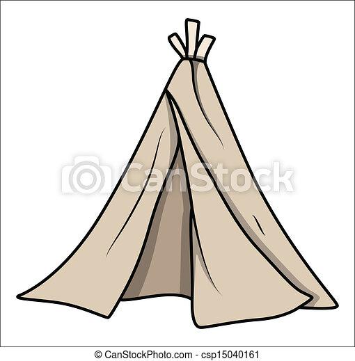 Cartoon Kids Tent - Vector  sc 1 st  Can Stock Photo & Cartoon kids tent - vector. Drawing art of cartoon tent... clip ...
