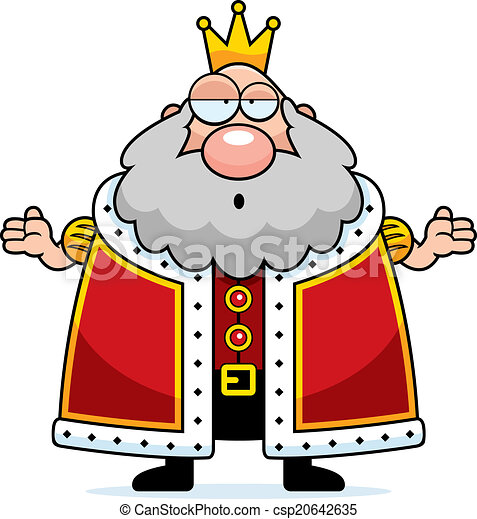 cartoon king confused a cartoon king with a confused vectors rh canstockphoto co uk king clip art free king clipart images