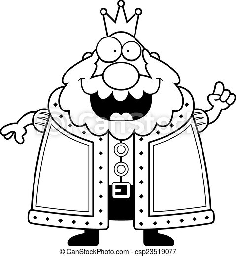 Cartoon King Idea - csp23519077
