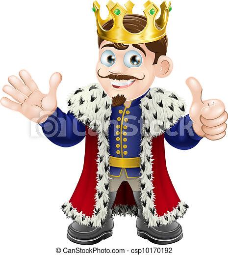 Cartoon King Mascot - csp10170192