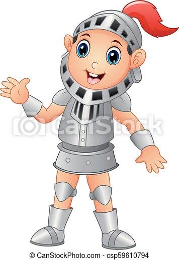 Cartoon knight boy - csp59610794