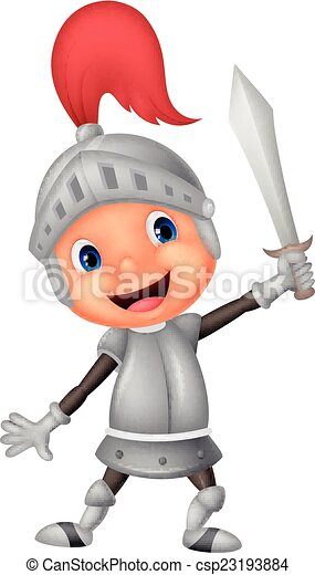 Cartoon knight boy - csp23193884