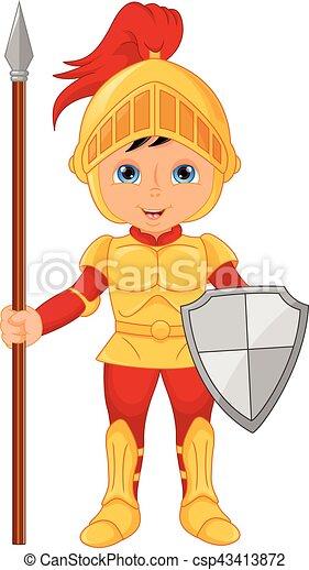 Cartoon knight boy - csp43413872