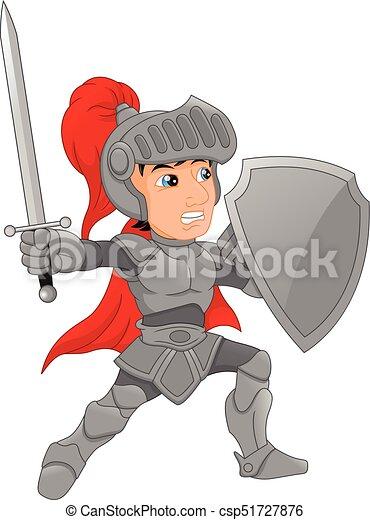 Cartoon knight boy - csp51727876