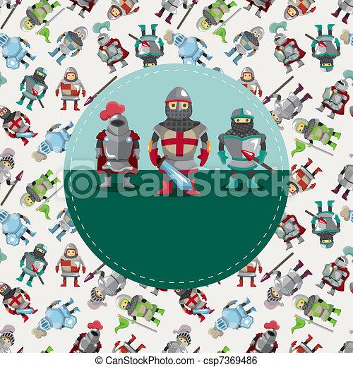 cartoon knight card - csp7369486