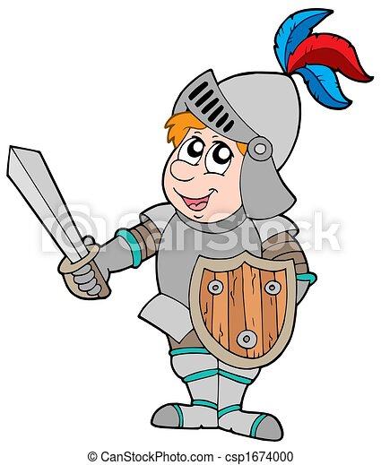 Cartoon knight - csp1674000