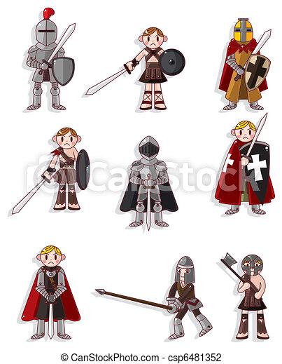 cartoon knight icon - csp6481352