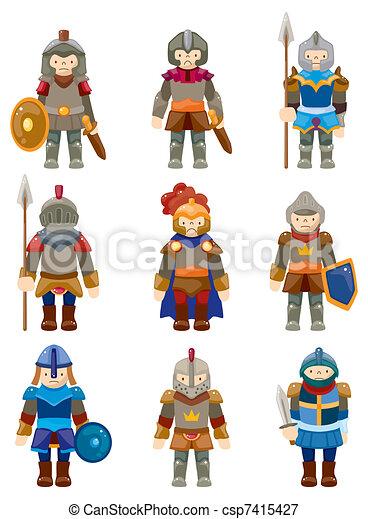 cartoon Knight icon - csp7415427