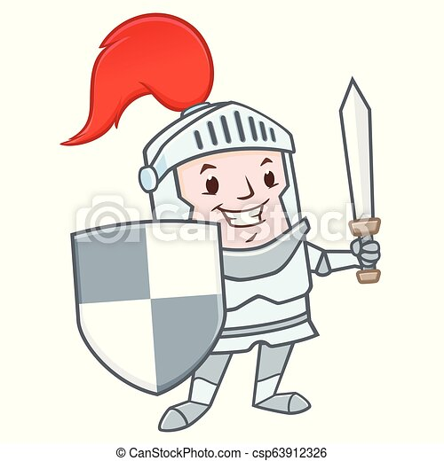 Cartoon Knight - csp63912326