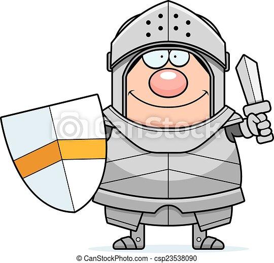 Cartoon Knight Sword - csp23538090