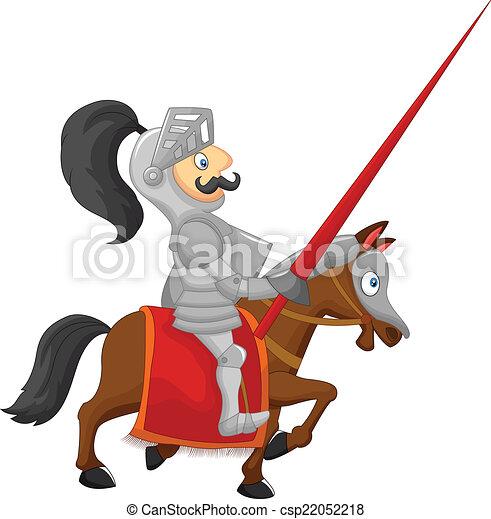 Cartoon knight - csp22052218