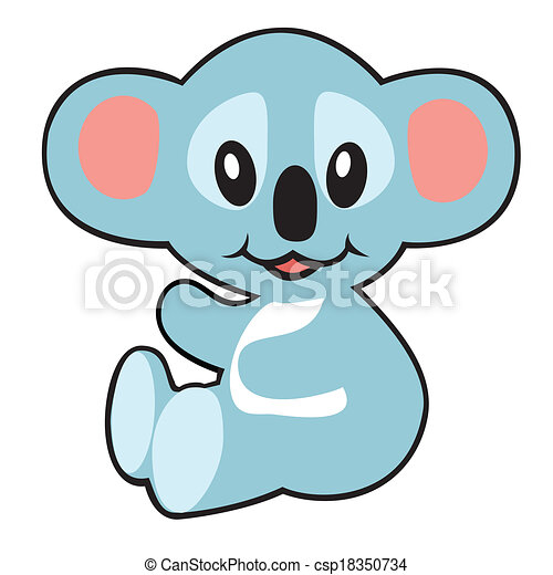 cartoon koala bear for babies and little kids image vectors rh canstockphoto com koala bear clipart black and white