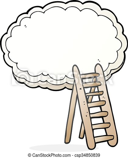 freehand drawn cartoon ladder to heaven vectors search clip art rh canstockphoto com heaven's gate clipart free