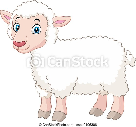 vector illustration of cartoon lamb rh canstockphoto com leg of lamb cartoon images lamb cartoon pictures