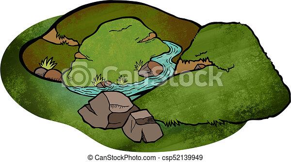 Cartoon Landscape - csp52139949