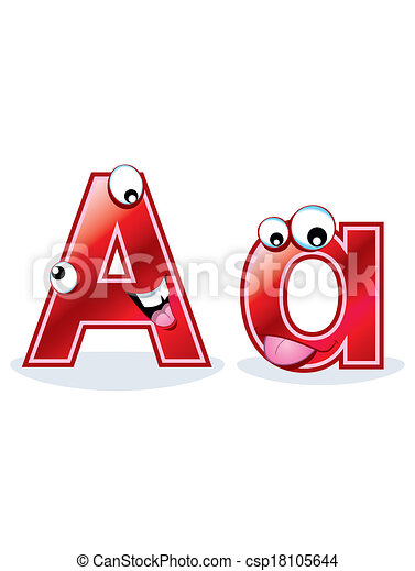 Cartoon Letter Aa