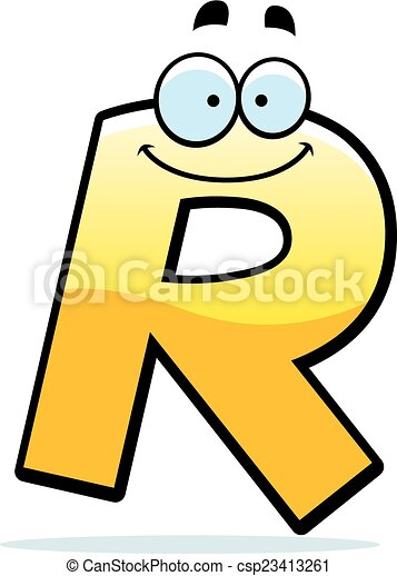 cartoon letter r a cartoon illustration of a letter r clip art rh canstockphoto com letter r clipart black and white capital letter r clipart