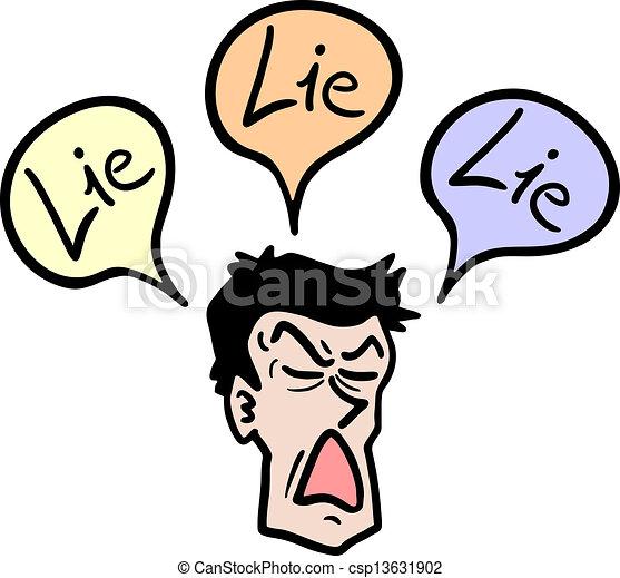 Cartoon lie. Creative design of cartoon lie.