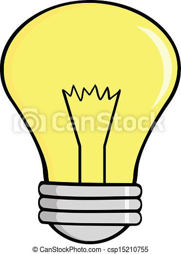 Cartoon Light Bulb - csp15210755