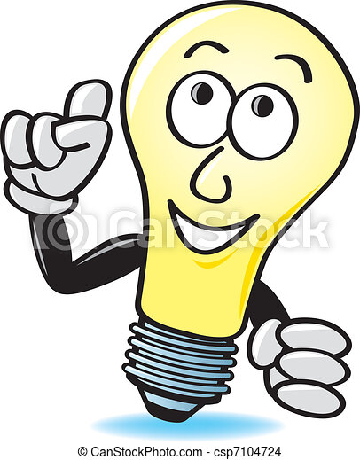 Cartoon Light Bulb - csp7104724