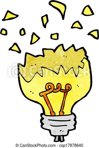 cartoon light bulb exploding - csp17878640