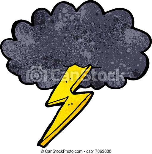 cartoon lightning bolt and cloud vector search clip art rh canstockphoto ie