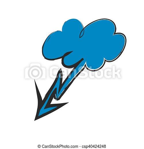 cartoon lightning bolt and cloud vector illustration eps vector rh canstockphoto com