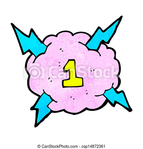 cartoon lightning storm cloud symbol with number one 1 clip art rh canstockphoto com storm clipart gif storm clip art images