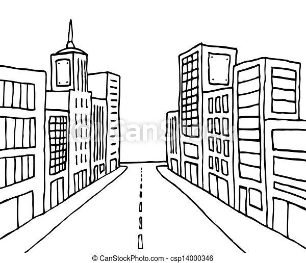 Cartoon line city - csp14000346
