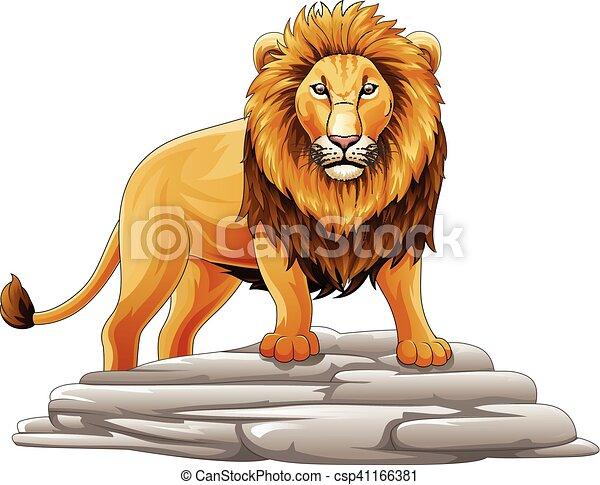 Cartoon lion mascot - csp41166381