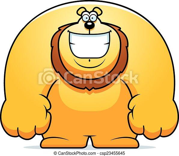 Cartoon Lion Smiling - csp23455645