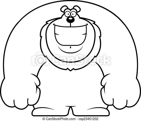 Cartoon Lion Smiling - csp23451202