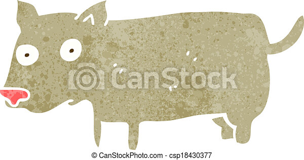 cartoon little dog - csp18430377