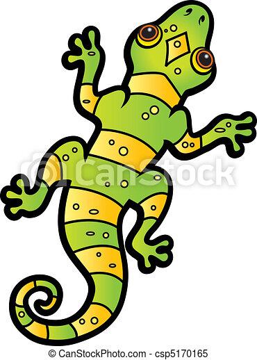Cartoon Lizard - csp5170165