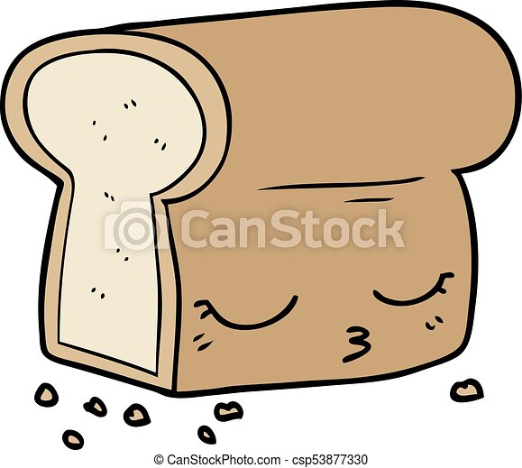 cartoon loaf of bread rh canstockphoto com sesame street loaf of bread cartoon how to draw cartoon loaf of bread