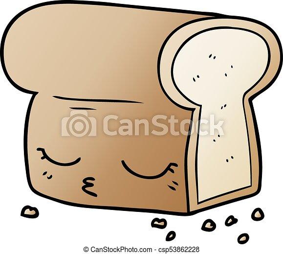 cartoon loaf of bread rh canstockphoto com cartoon loaf of bread stick of butter sesame street loaf of bread cartoon