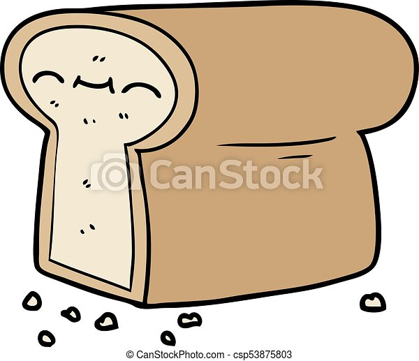cartoon loaf of bread rh canstockphoto com Cartoon Loaf of Bread Done cartoon picture of loaf of bread