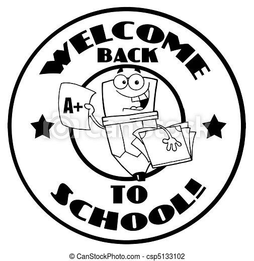 Cartoon Logo Mascot-Pencil - csp5133102