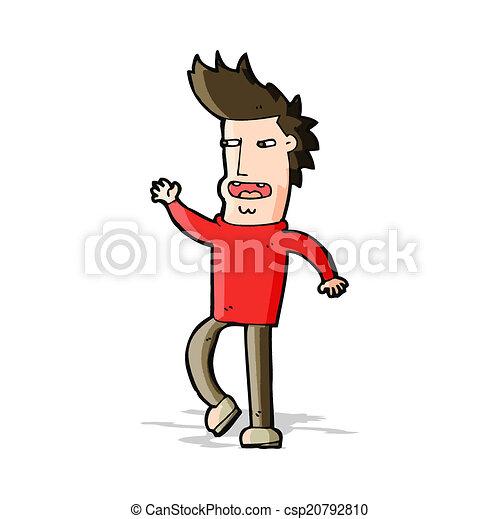 cartoon loudmouth man - csp20792810