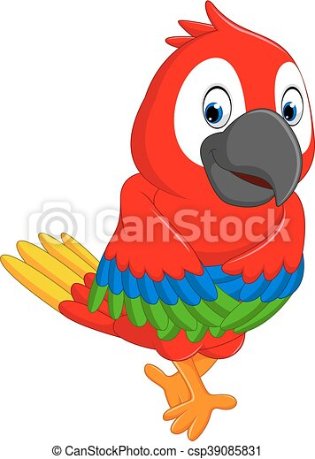 cartoon macaw illustration of cute macaw cartoon vectors search rh canstockphoto com blue macaw clipart scarlet macaw clipart