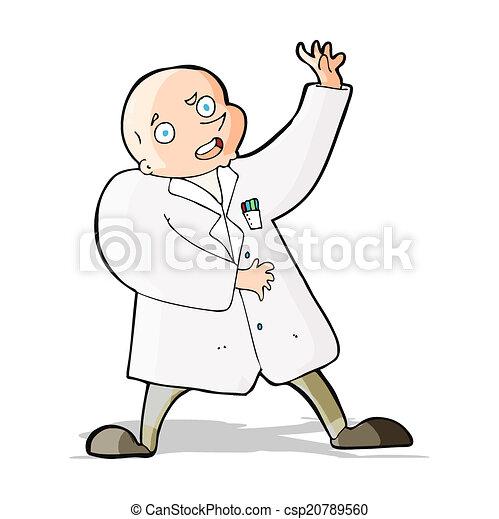 cartoon mad scientist - csp20789560