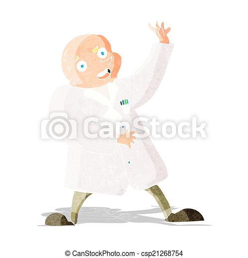 cartoon mad scientist - csp21268754