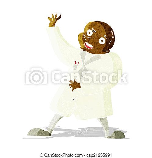 cartoon mad scientist - csp21255991
