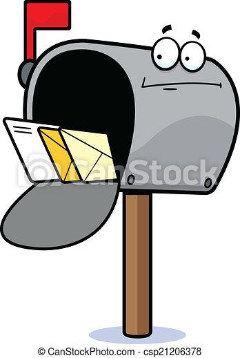 cartoon mailbox confused cartoon illustration of a mailbox rh canstockphoto com Cartoon Mailbox Clip Art mailbox images clipart