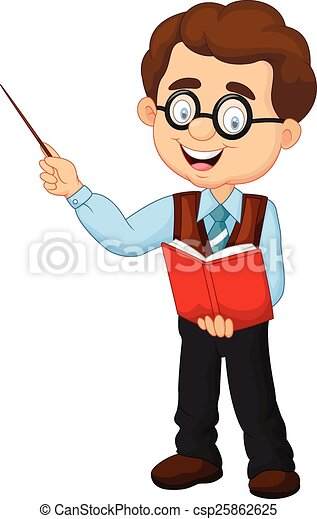 Cartoon male teacher  - csp25862625