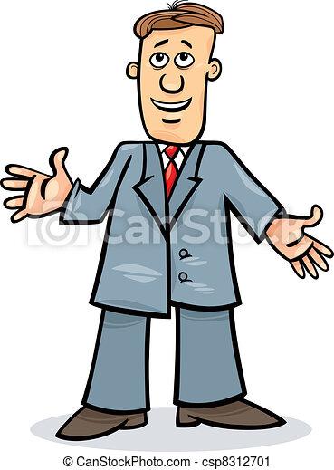 cartoon man in suit cartoon illustration of funny man in vector rh canstockphoto com cartoon man in suit and tie cartoon man in suit clipart