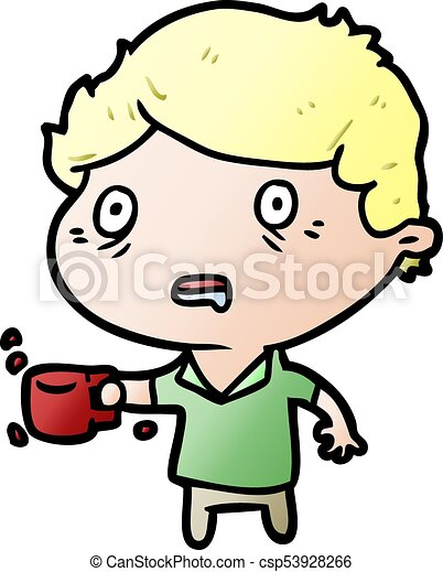 cartoon man jittery from drinking too much coffee clip art vector rh canstockphoto com drinking clipart black and white drinking clipart black and white